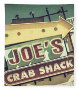This Way To Joe's Crab Shack Fleece Blanket