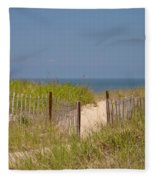 This Way To The Beach Fleece Blanket