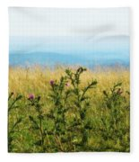 Thistle On The Blue Ridge Fleece Blanket