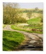 Thixendale Road  North Yorkshire Fleece Blanket