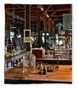 Thomas Edison Lab, #3 Fleece Blanket