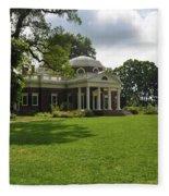 Thomas Jefferson's Monticello Fleece Blanket