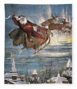 Thomas Nast: Santa Claus Fleece Blanket