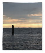 Thomas Point - The Morning Sun Over The Bay Fleece Blanket