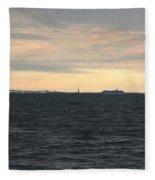 Thomas Point  - View Of The Bay Bridge Fleece Blanket