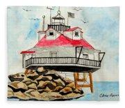 Thomas Point Lighthouse Fleece Blanket