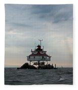 Thomas Point Shoal Lighthouse - Icon Of The Chesapeake Bay Fleece Blanket