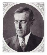 Thomas Woodrow Wilson, 1856 To 1924 Fleece Blanket