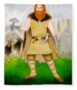 Thor Odinsson Fleece Blanket