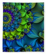 Thorn Flower Fleece Blanket