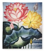 Thornton: Lotus Flower Fleece Blanket