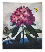 Thornton: Rhododendron Fleece Blanket