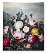 Thornton: Roses Fleece Blanket