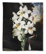 Thornton: White Lily Fleece Blanket