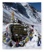 Thorong La Pass, Annapurna Circuit, Nepal Fleece Blanket