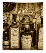 Those Old Apothecary Bottles In Sepia Fleece Blanket