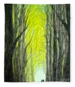 Though The Forest To The Light  Fleece Blanket