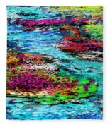 Thought Upon A Stream Fleece Blanket