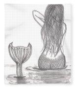 Thoughtful Mermaid Fleece Blanket