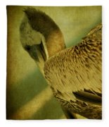 Thoughtful Pelican Fleece Blanket