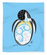 Thoughts And Colors Series Penguin Fleece Blanket