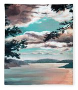 Thousand Island Sunset Fleece Blanket