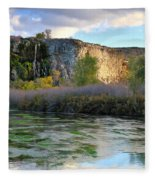 Thousand Springs Idaho Fleece Blanket