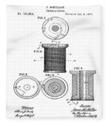 Thread Spool Patent 1877  Fleece Blanket