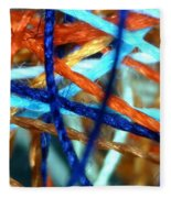 Threads 2 Fleece Blanket