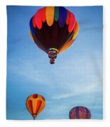 Three Balloons Fleece Blanket