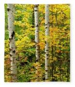 Three Birch Fleece Blanket
