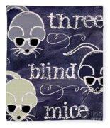 Three Blind Mice Children Chalk Art Fleece Blanket
