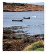 Three Boats Fleece Blanket
