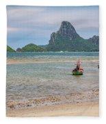 Three Boats Thailand Fleece Blanket