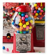Three Bubble Gum Machines Fleece Blanket