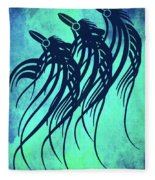 Three Crows Contemporary Minmalism Fleece Blanket