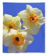 Three Daffodils Fleece Blanket