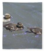 Three Duckies  Fleece Blanket