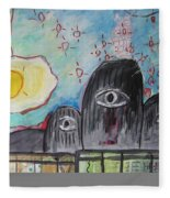 Three Eyes Fleece Blanket