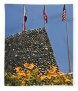 Three Flags In Memphis Tennessee Fleece Blanket