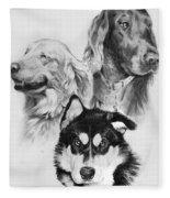 Three Friends Fleece Blanket