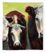 Three Generations Of Moo Fleece Blanket