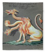 Three Headed Monster, 18th Century Fleece Blanket