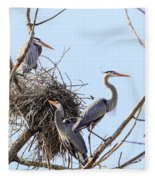 Three Herons Fleece Blanket