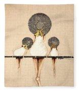 Three Ladies On A Dock  Fleece Blanket