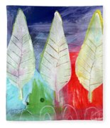 Three Leaves Of Good Fleece Blanket