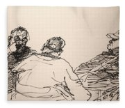 Three Men At Tims Fleece Blanket
