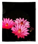 Three Night Lilies  Fleece Blanket