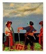 Three Pirates Fleece Blanket