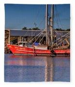 Three Princess Schrimpboat Fleece Blanket